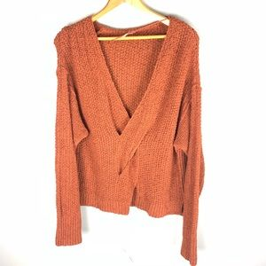 Free People Sweater Orange Medium